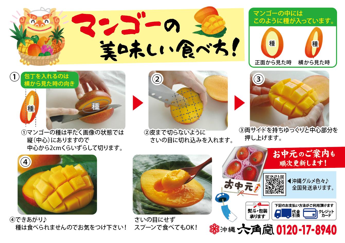 マンゴーの剥き方
